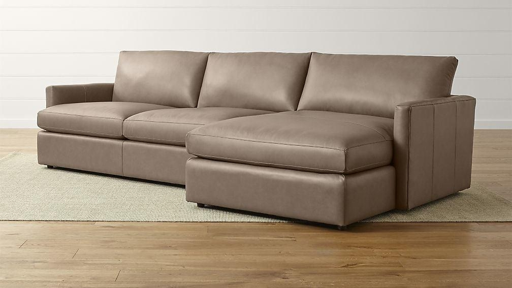 Lounge Ii Right Arm Chaise Sectional Sofa | Crate And Barrel Inside 2 Piece Sectional Sofas (Image 16 of 20)