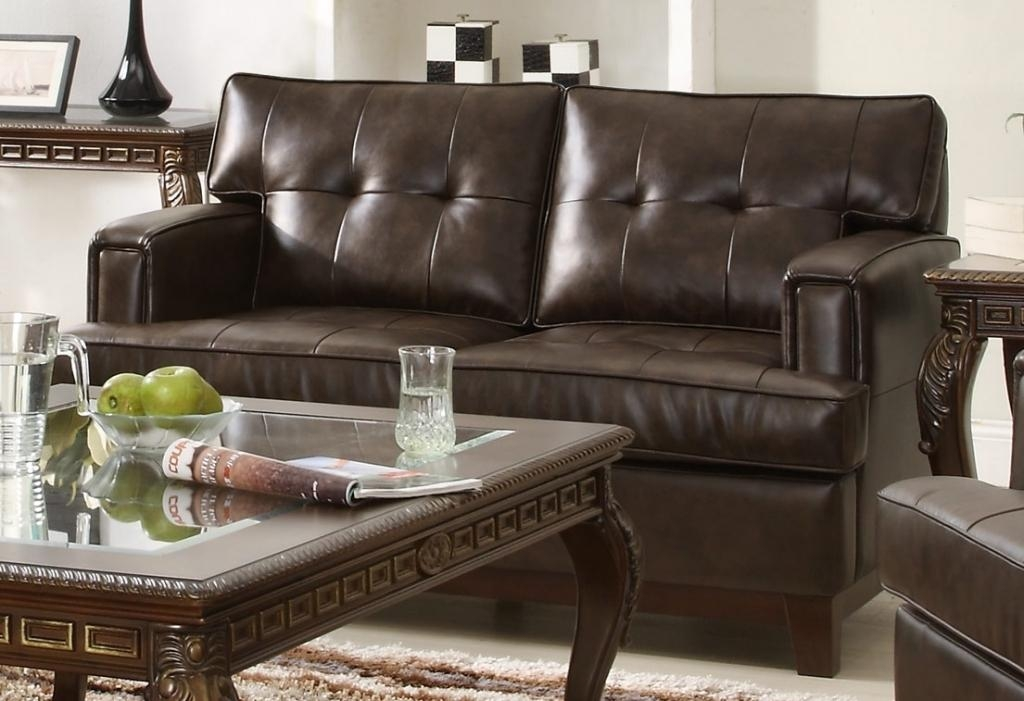 Lovable Simmons Bonded Leather Sofa – Interiorvues Throughout Bonded Leather Sofas (View 13 of 20)
