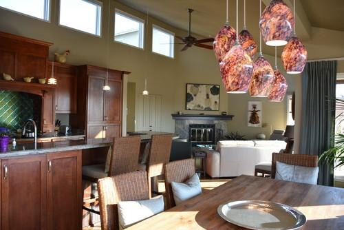 Love The Hanging Light Fixture Above The Dining Table! For Dining Lights Above Dining Tables (Image 16 of 20)