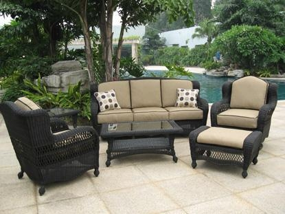 Lovely Black Wicker Patio Furniture 42 For Home Designing Throughout Black Wicker Sofas (Image 9 of 20)