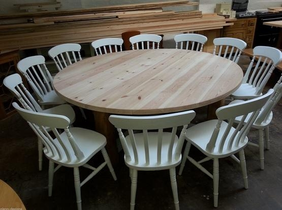 Lovely Decoration Large Round Dining Table Surprising Idea Large In Large Circular Dining Tables (Image 13 of 20)