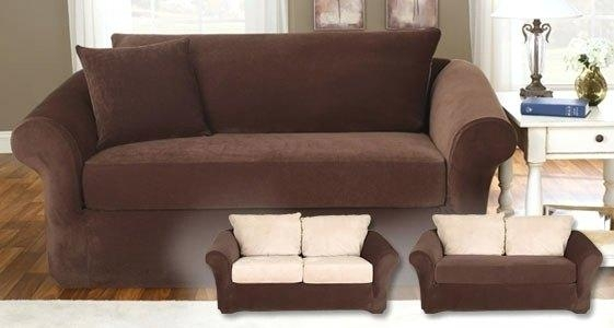 Loveseat ~ Loveseat Slipcovers 3 Piece Loveseat Slipcovers T Pertaining To Loveseat Slipcovers 3 Pieces (View 14 of 20)