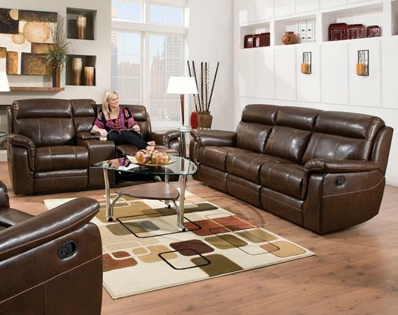 Lowey Tobacco Reclining Sofa And Loveseat Set – Transitional Inside Reclining Sofas And Loveseats Sets (Image 13 of 20)