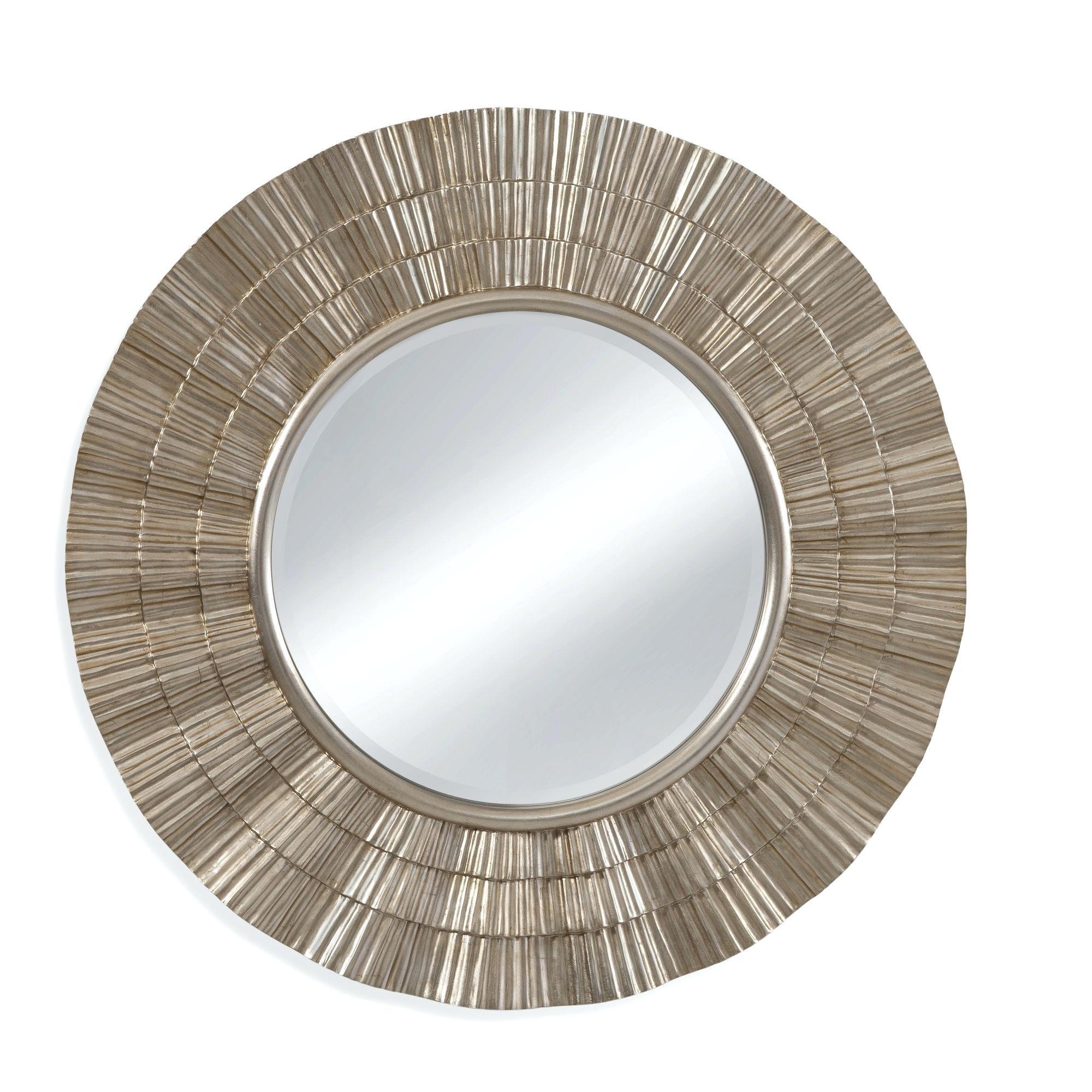 Luana Round Wall Mirror In Goldlarge Gold Uk Circular – Shopwiz With Regard To Large Round Gold Mirror (Image 16 of 20)