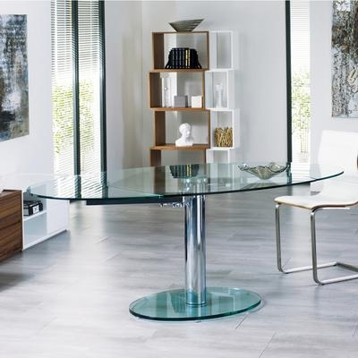 Luca Glass Extending Dining Table Clear – Dwell With Regard To Glass Extending Dining Tables (Image 11 of 20)