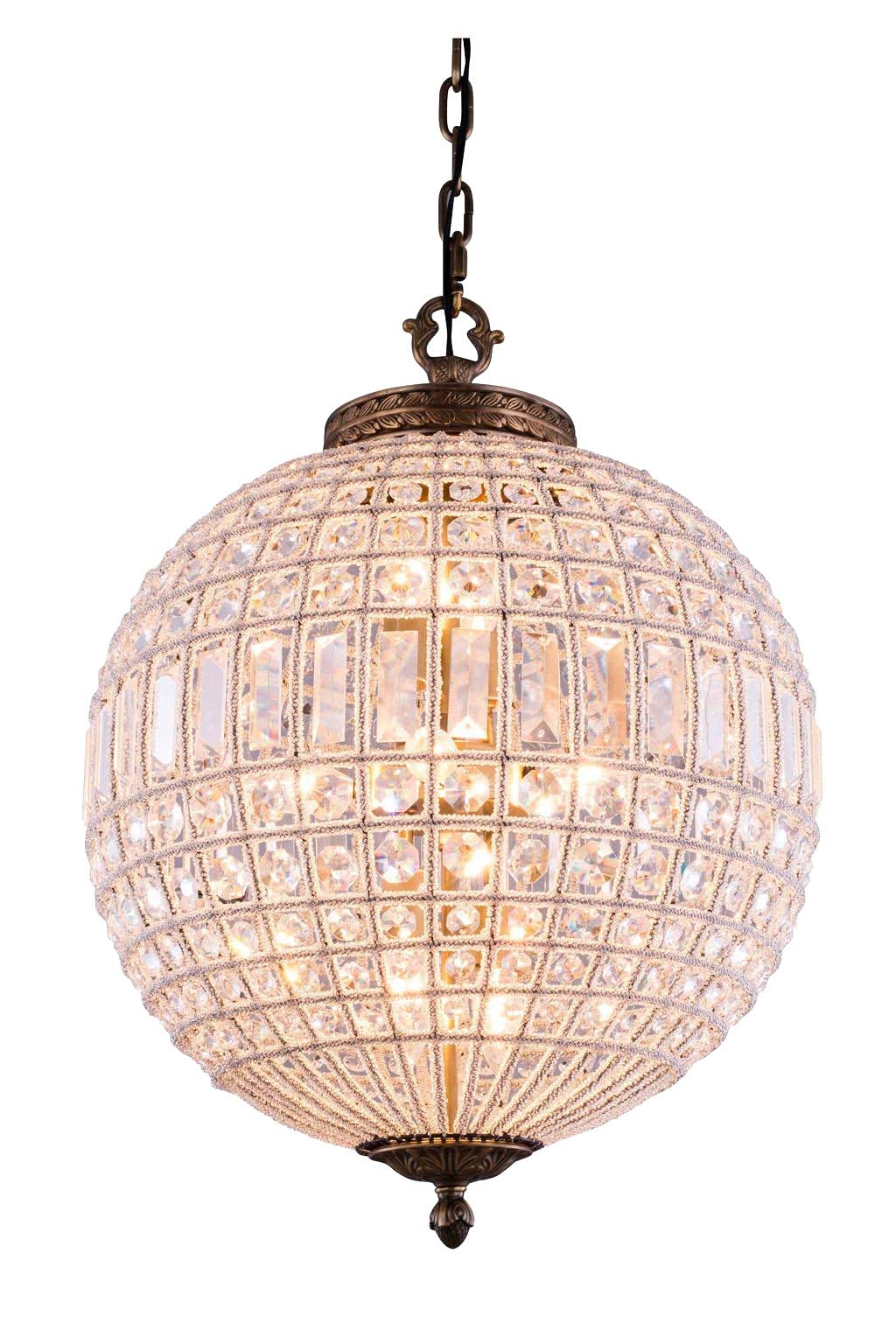 Lucienne 3 Light Crystal Pendant Chandelier In French Gold For 3 Light Crystal Chandeliers (Image 14 of 25)