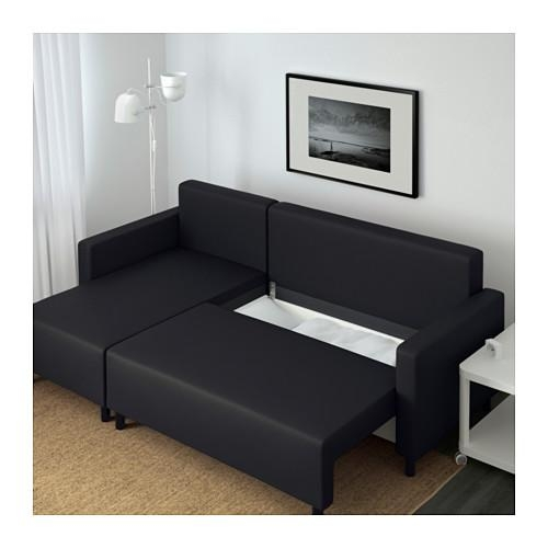 Lugnvik Sofa Bed With Chaise Longue – Granån Black – Ikea In Sofa Beds With Chaise Lounge (View 13 of 20)