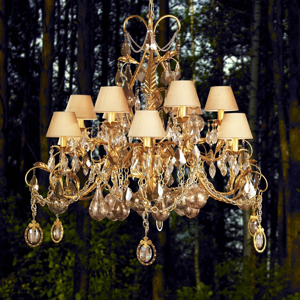 Luxury Chandeliers Exclusive High End Designer Chandeliers With Crystal Gold Chandeliers (Image 19 of 25)