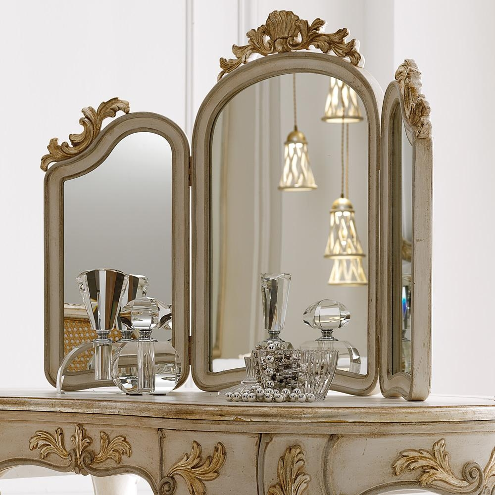 Luxury Gold Mirrors – Exclusive High End Designer Gilt Mirrors Throughout Gold Dressing Table Mirror (View 10 of 20)