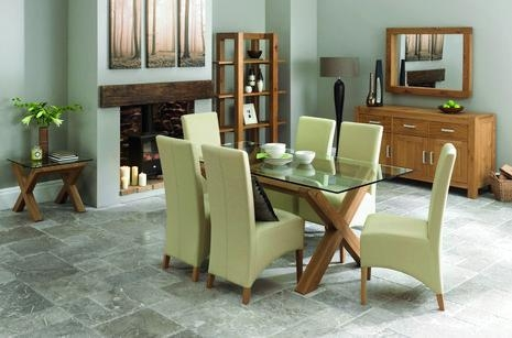 Lyon Oak Glass Dining Table | Oak Furniture Solutions With Lyon Dining Tables (Image 15 of 20)