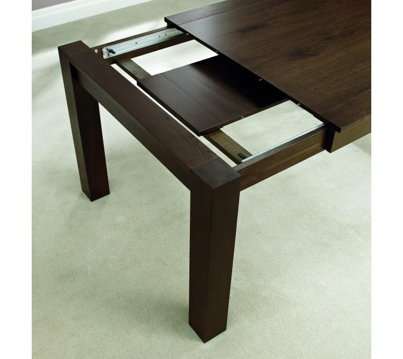 Lyon Walnut Medium End Extending Dining Table Set | Bentley Designs Intended For Lyon Dining Tables (Image 16 of 20)
