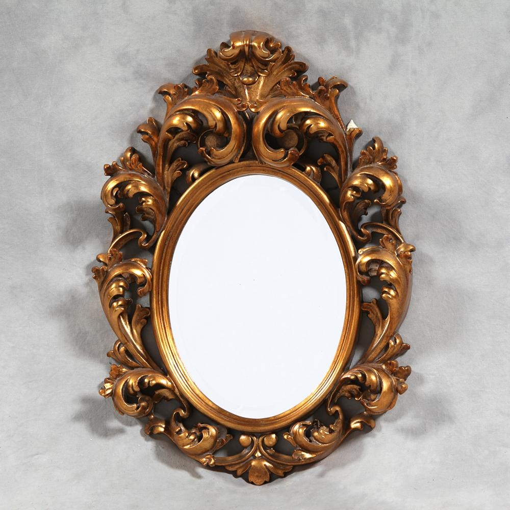 M81: Small Gold Rococo Mirror – Sanding Supplies And Executive Intended For Gold Rococo Mirror (Image 18 of 20)