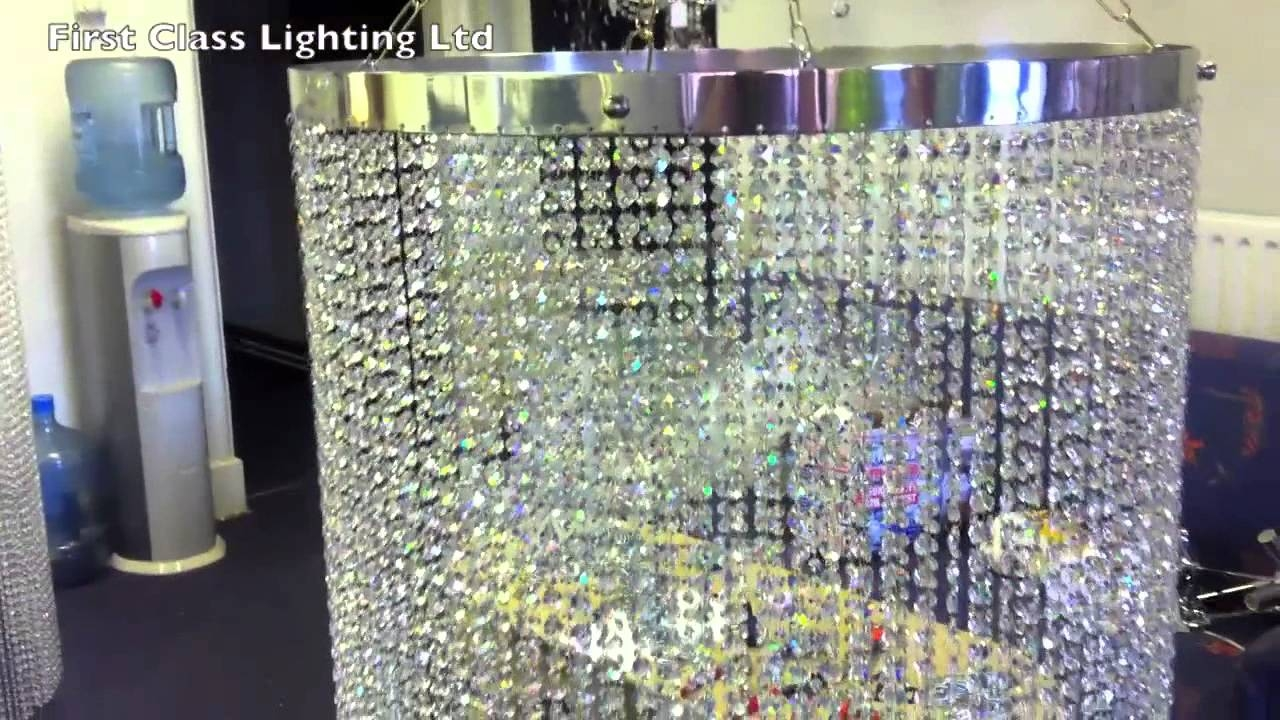 Made To Measure Custom Made Crystal Chandelier Lamp Shades 2 From With Chandeliers With Lamp Shades (Image 17 of 25)