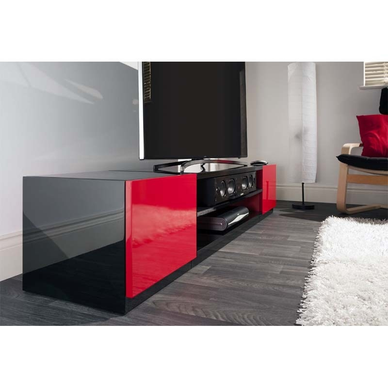 Magnificent Best Black And Red TV Stands In Black And Red Tv Stand Home Design Ideas (Image 32 of 50)