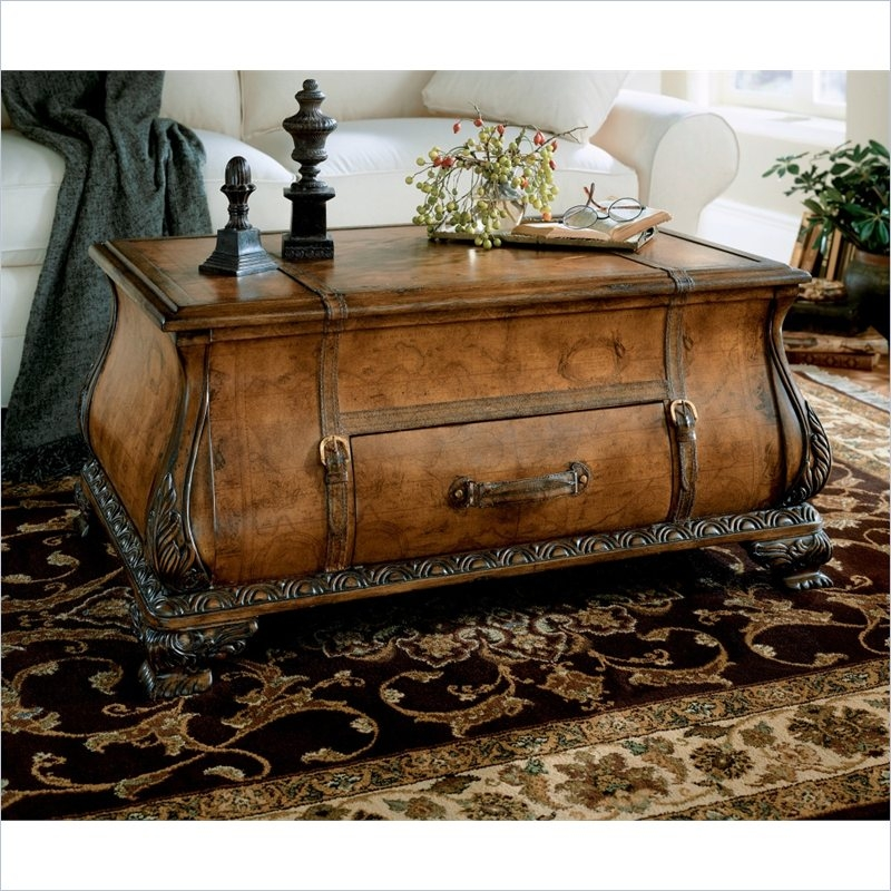 Magnificent Best Bombay Coffee Tables Pertaining To Old World Map Bombay Trunk Coffee Table 0553070 Butler Specialty (View 11 of 50)