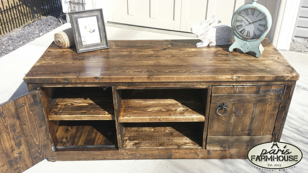 Magnificent Best Dark Walnut TV Stands For Rancher Tv Stand Large 2 Doors 1 Shelf Dark Walnut  (Image 33 of 50)