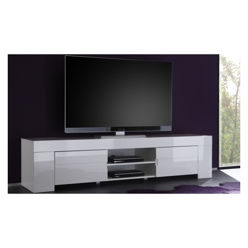 Magnificent Best Large White TV Stands Pertaining To Eos Large High Gloss Tv Unit Tv Stands Sena Home Furniture (Image 32 of 50)