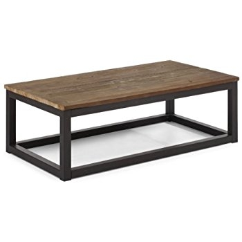 Magnificent Best Long Coffee Tables Intended For Amazon Civic Center Long Coffee Table Distressed Natural (View 3 of 50)