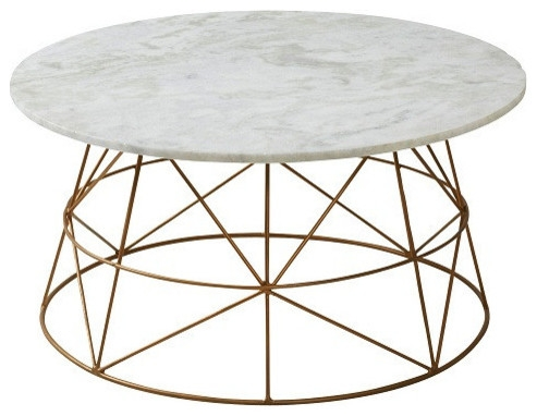 Magnificent Best Marble And Metal Coffee Tables Throughout Round Marble Coffee Table (Image 29 of 40)