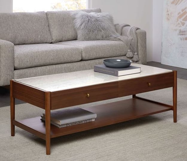Magnificent Best Narrow Coffee Tables Pertaining To 15 Narrow Coffee Table Ideas For Small Spaces Living Room Ideas (View 37 of 50)