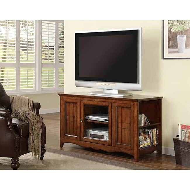 Magnificent Best Oak Veneer TV Stands Throughout Solid Oak And Veneer 48 Inch Tv Stand Free Shipping Today (View 41 of 50)