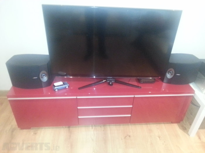 Magnificent Best Red Gloss TV Stands With Regard To Ikea Besta Burs Tv Stand Unit Red High Gloss For Sale In (Image 37 of 50)