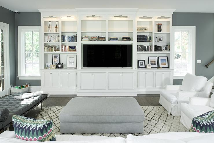 Magnificent Best Small White TV Cabinets Inside Navy Blue Cabinets With Diamond Pattern Sliding Doors Concealing (Image 28 of 50)