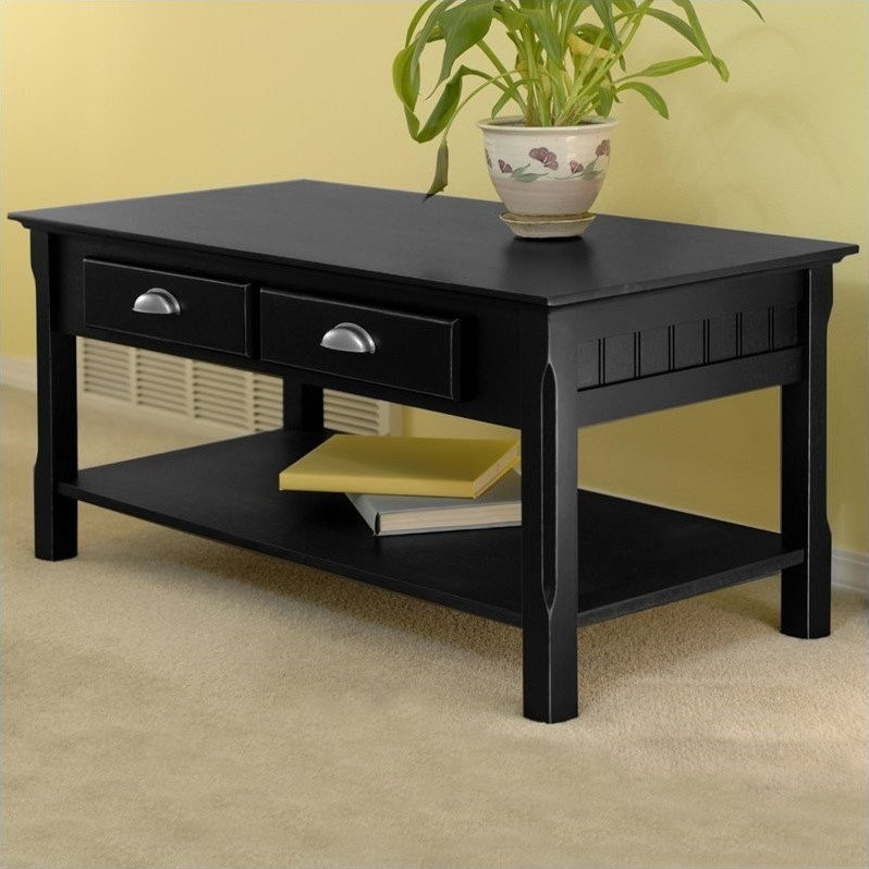 Magnificent Best Solid Wood Coffee Tables Throughout Solid Wood Coffee Table In Black  (Image 39 of 50)