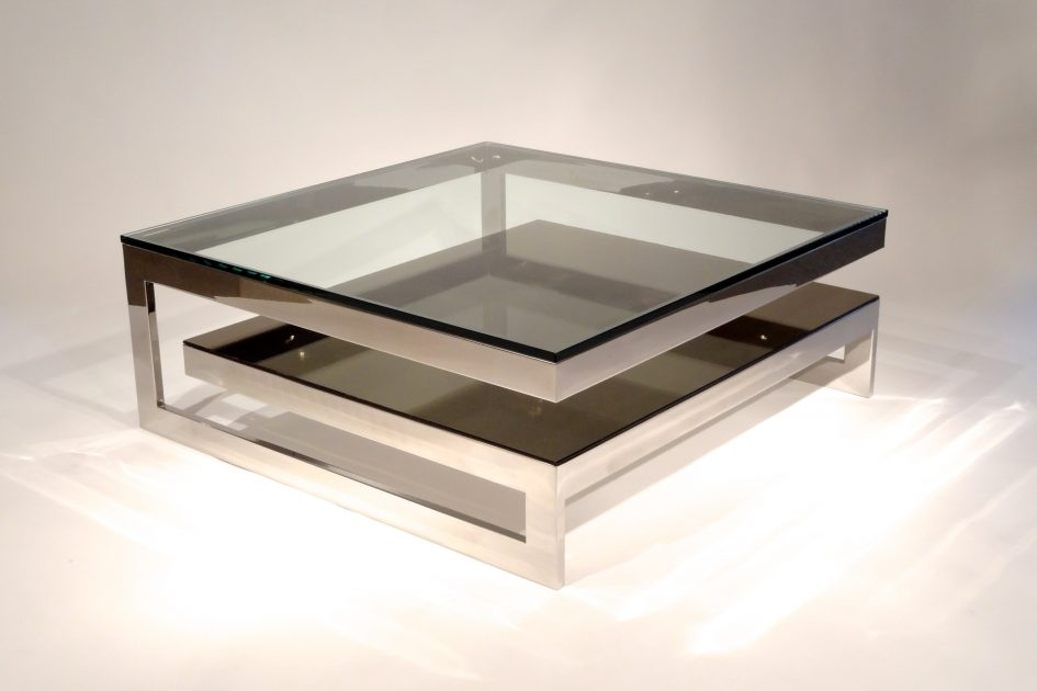 Magnificent Best Square Shaped Coffee Tables Throughout Stylish Contemporary Coffee Tables Stainless Steel Construction (View 10 of 50)