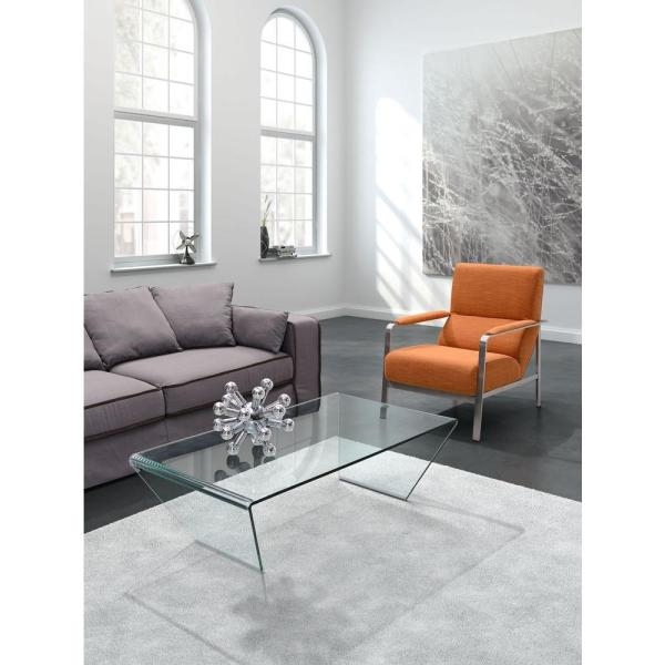 Magnificent Best Transparent Glass Coffee Tables With Regard To Zuo Migration Clear Glass Coffee Table 404087 The Home Depot (Photo 25 of 50)