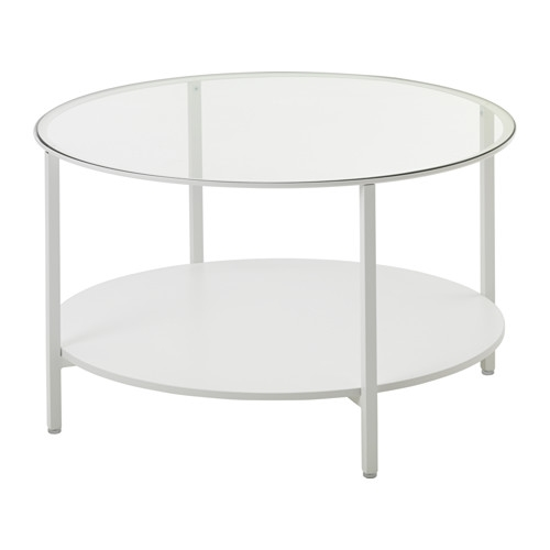 Magnificent Best White And Glass Coffee Tables With Vittsj Coffee Table Whiteglass Ikea (View 23 of 40)