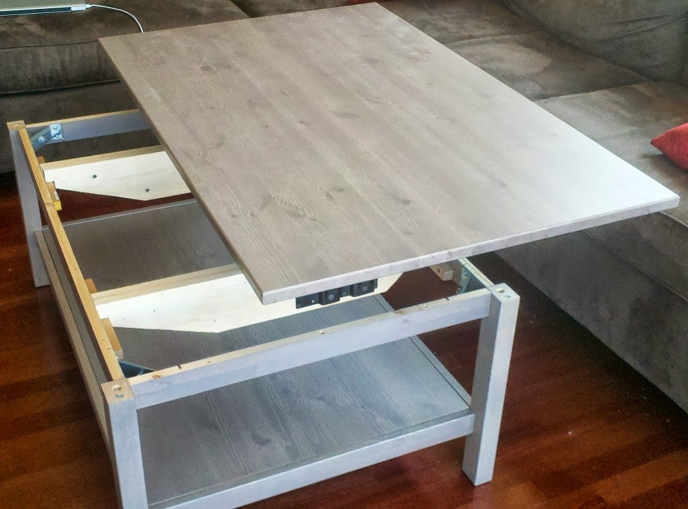 Magnificent Brand New Coffee Tables With Raisable Top With Hemnes Lift Top Coffee Table Ikea Hackers Ikea Hackers (View 22 of 50)