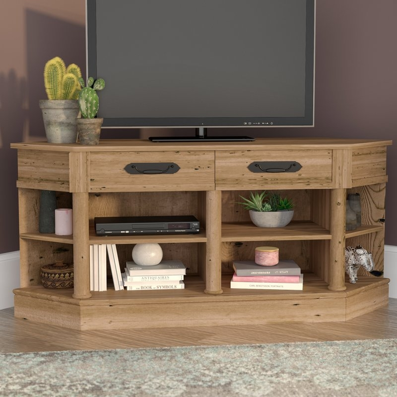 Magnificent Brand New Corner TV Stands With Drawers Throughout Mistana Collier Corner 61 Tv Stand Reviews Wayfair (Image 35 of 50)