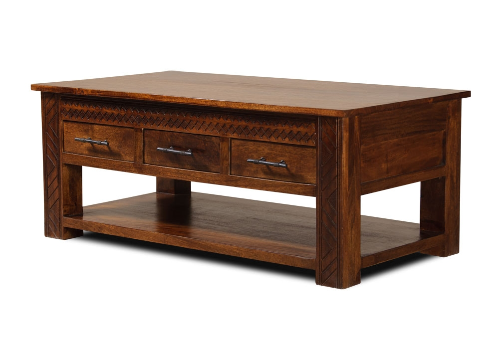 Magnificent Brand New Dark Mango Coffee Tables In Mango Living Room Furniture (View 3 of 40)