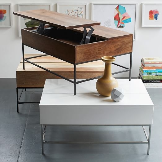 Magnificent Brand New Desk Coffee Tables For Industrial Storage Coffee Table West Elm (Image 32 of 50)