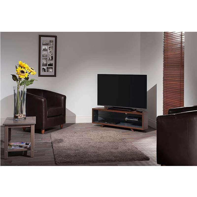Magnificent Brand New Dual TV Stands For Techlink Dual Corner Series 55 In Tv Stand Walnut And Satin Grey (Image 32 of 50)