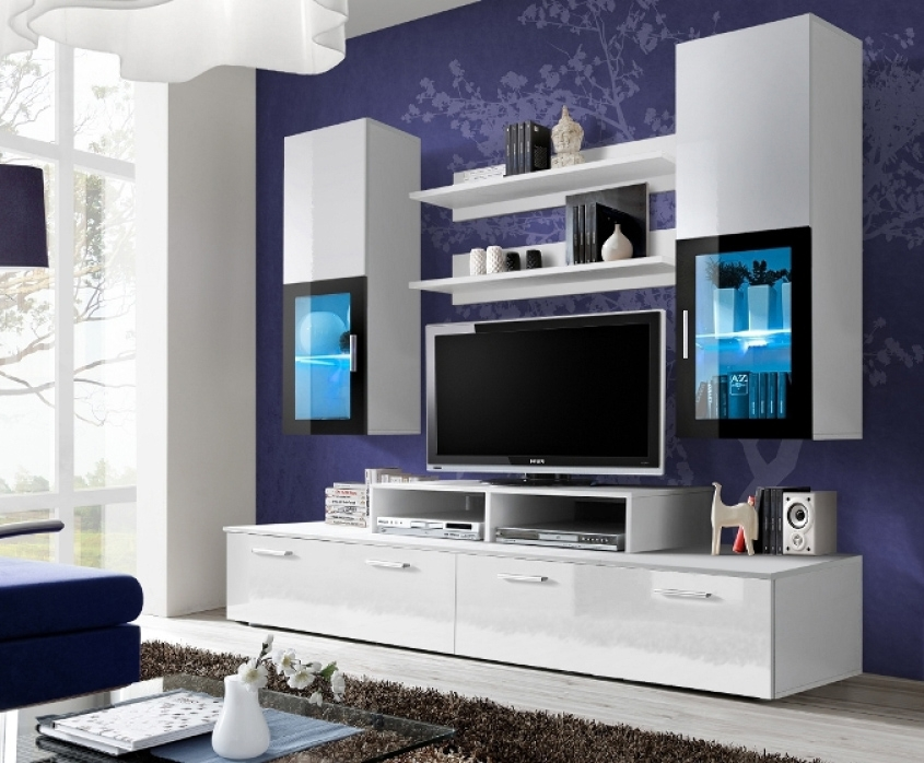 Magnificent Brand New Fancy TV Cabinets For Modern Wall Units Wall Shelving Units Tv Stands High Gloss (Image 36 of 50)