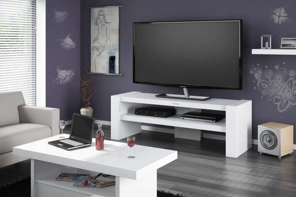 Magnificent Brand New Long White TV Cabinets Regarding Tv Cabinets Davos 2 White Tv Cabinets Modern Tv Stands (Image 31 of 50)