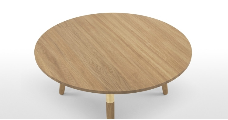 Magnificent Brand New Range Coffee Tables Within Range Round Coffee Table Solid Oak And Brass Made (Image 28 of 50)