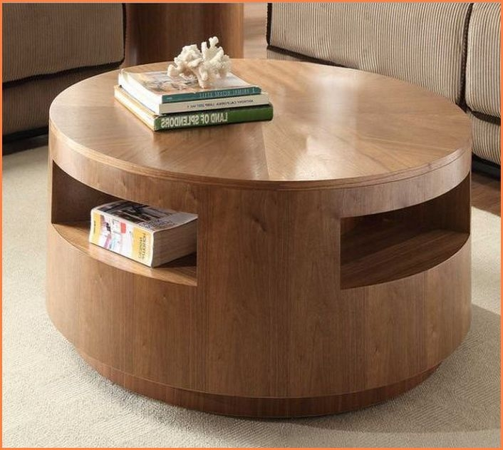 Magnificent Brand New Round Coffee Tables With Storages In Round Coffee Table With Storage Home Design Ideas (Image 33 of 50)