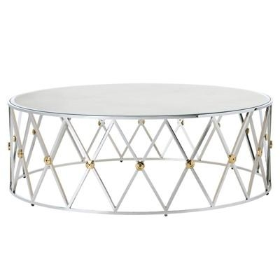 Magnificent Brand New Round Mirrored Coffee Tables Inside Round Diamond Design Coffee Table (Image 28 of 40)