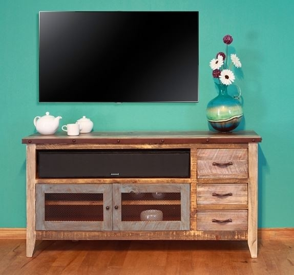 Magnificent Brand New Rustic TV Cabinets Regarding Cottage Tv Cabinet Coastal Entertainment Center Rustic (Image 34 of 50)