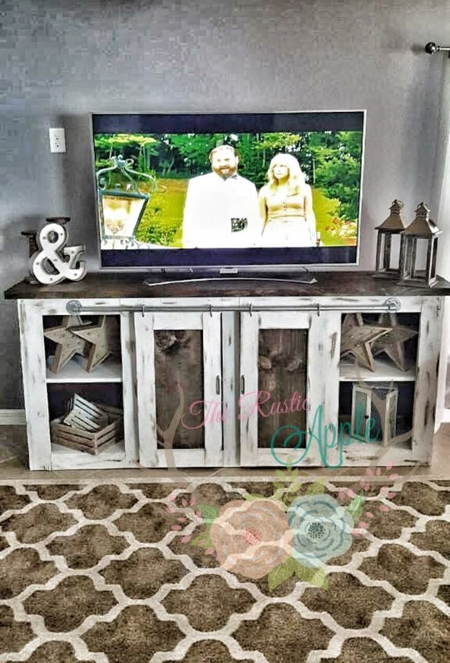 Magnificent Brand New Rustic White TV Stands Regarding 25 Best Rustic Tv Console Ideas On Pinterest Tv Console (Image 38 of 50)