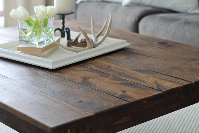 Magnificent Brand New Rustic Wood DIY Coffee Tables Pertaining To Diy Farmhouse Coffee Table Love Grows Wild (Image 33 of 50)