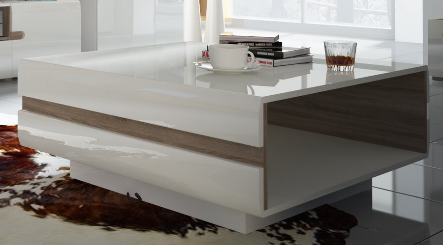 Magnificent Brand New White And Oak Coffee Tables In Awesome White Coffee Tables For Sale For Your Luxury Home Interior (Image 34 of 50)