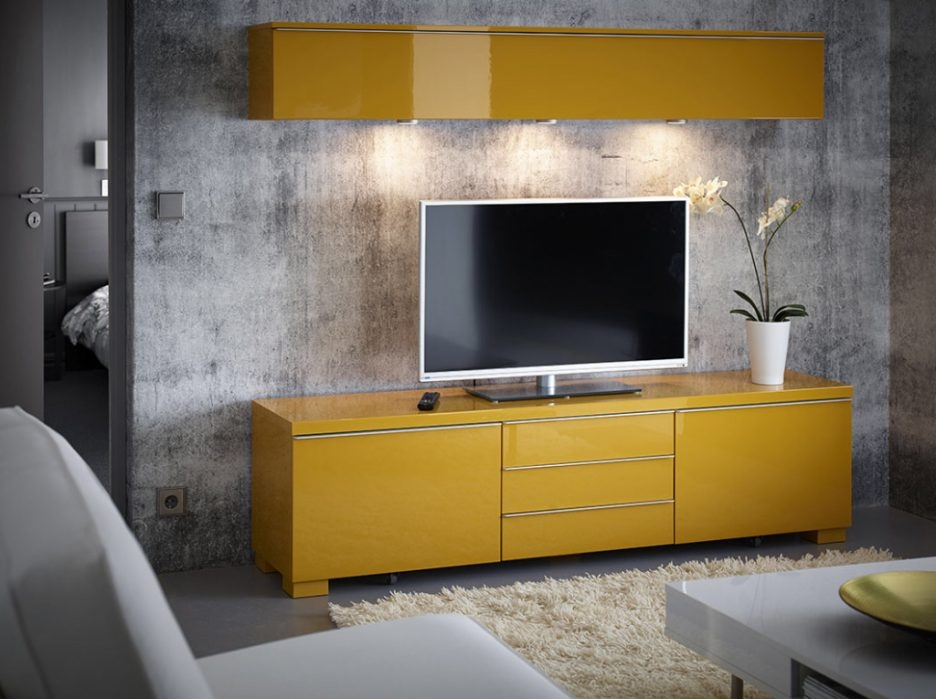 Magnificent Brand New Yellow TV Stands IKEA Within Modernes Innenarchitektur Fr Luxushuser Belle Meuble Tv Living (View 21 of 50)