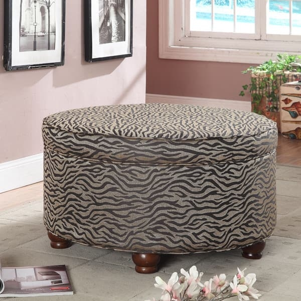Magnificent Common Animal Print Ottoman Coffee Tables For Animal Print Round Ottoman Free Shipping Today Overstock (Image 36 of 50)