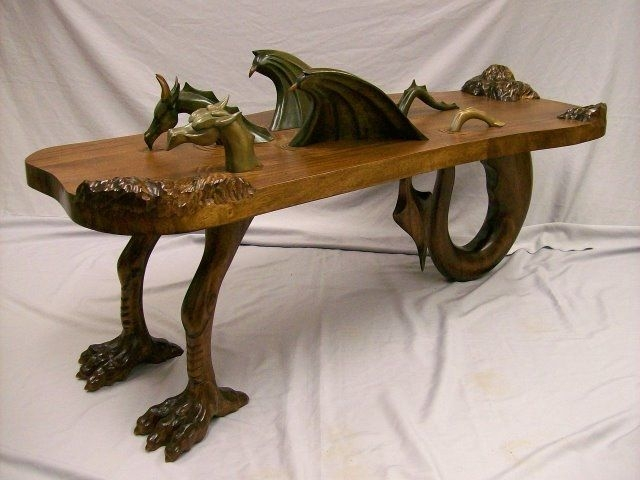 Magnificent Common Dragon Coffee Tables In Handmade Dragon Coffee Table Custom Wood Carving Custommade (Image 39 of 50)