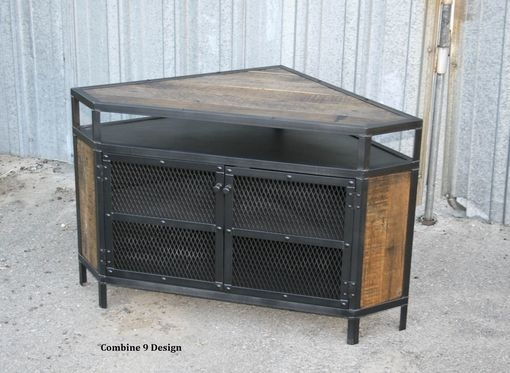 Magnificent Common Industrial Corner TV Stands Within Buy A Custom Vintage Industrial Tv Stand Corner Unit Media (Image 39 of 50)
