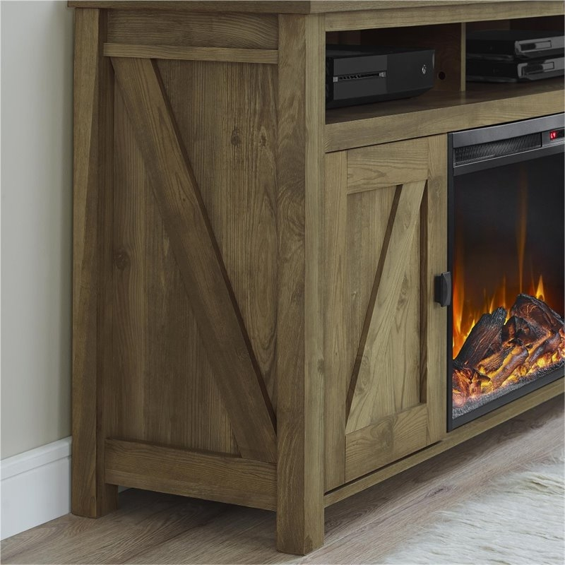 Magnificent Common Light Brown TV Stands In 60 Fireplace Tv Stand In Light Pine 1795296com (Image 34 of 50)